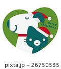 犬 猫 クリスマスのイラスト 26750535