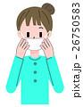 マスク 女性 予防のイラスト 26750583