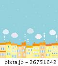 街並み 雪 雲 26751642