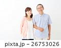 親子イメージ シニア男性・ミドル女性 26753026