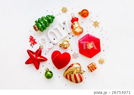 Christmas and New Year 2017 background の写真素材 [26753071] - PIXTA