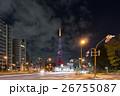 ハートマークが浮かぶダイヤモンドヴェール 【クリスマスツリー】の東京タワーと自動車の光跡_a 26755087
