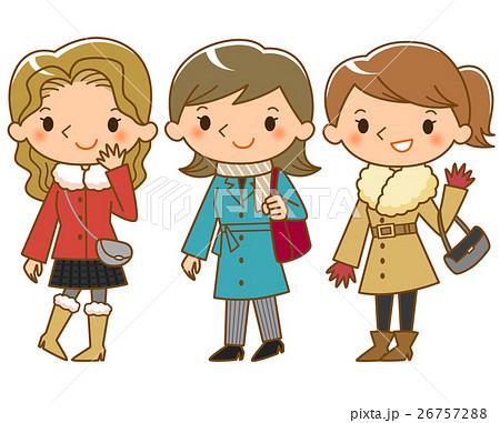 コートを着た女性 26757288