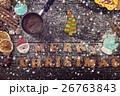 クリスマス スノーフレーク 雪片の写真 26763843