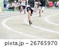 徒競走 子供 走るの写真 26765970