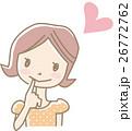 女性 若い ベクターのイラスト 26772762