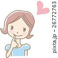 女性 若い ベクターのイラスト 26772763