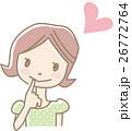 女性 若い ベクターのイラスト 26772764