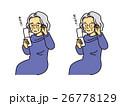 ガラケーとおばあさん 26778129