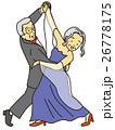 社交ダンスのおばあさんおじいさん 26778175