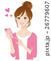 スマホを見る若い女性 26779607