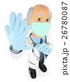 外科医 手袋 テブクロのイラスト 26780087