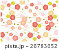 紅梅 白梅 背景素材 26783652