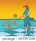 coach playing with children sport water Polo 26787246