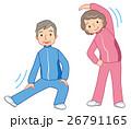 体操するシニア 高齢者 健康 26791165