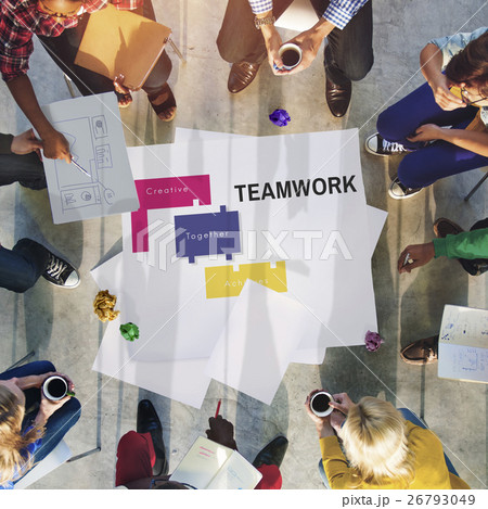 Achievement Teamwork Creative Together Collaboration Graphic Conceptの写真素材 [26793049] - PIXTA