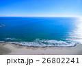 山武郡九十九里町 片貝海水浴場付近を空撮 26802241