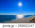 山武郡九十九里町 片貝海水浴場付近を空撮 26802247