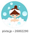 風呂に入る女性 26802290