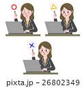 パソコン ノートパソコン ベクターのイラスト 26802349