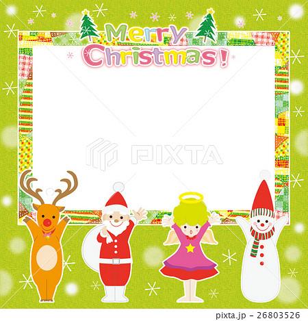 クリスマス素材 フレーム  26803526