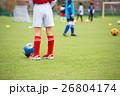 サッカー サッカーボール 芝生の写真 26804174