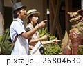 人物 沖縄 シーサーの写真 26804630