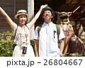 人物 沖縄 シーサーの写真 26804667
