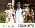 人物 沖縄 シーサーの写真 26804672