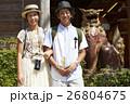 人物 沖縄 シーサーの写真 26804675