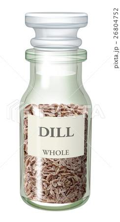 スパイス瓶_ディルのイラスト素材 [26804752] - PIXTA