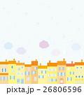 街並み 雪 雲 26806596