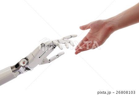 Human Robot Hands Reaching Artificial Intelligence 26808103
