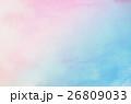 水彩画 青 抽象的の写真 26809033