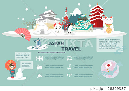 Japan travel element 26809387