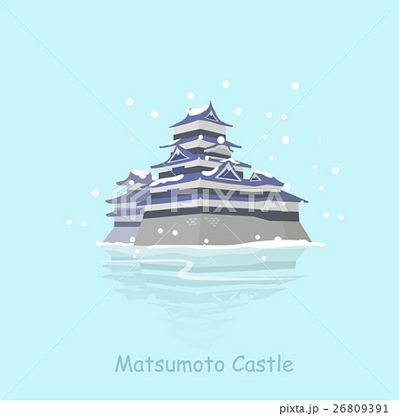 cartoon japan matsumoto castle 26809391
