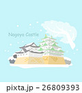 Japan nagoya castle in winter 26809393