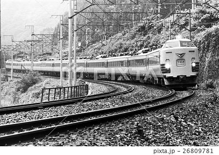 奥羽本線板谷峠付近を走行する485系特急つばさ 26809781