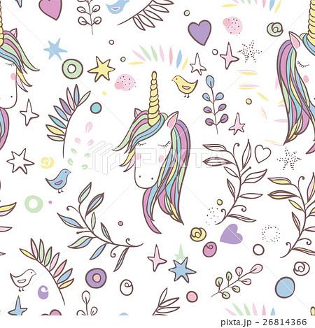 Unicorn Rainbow seamless patternのイラスト素材 [26814366] - PIXTA