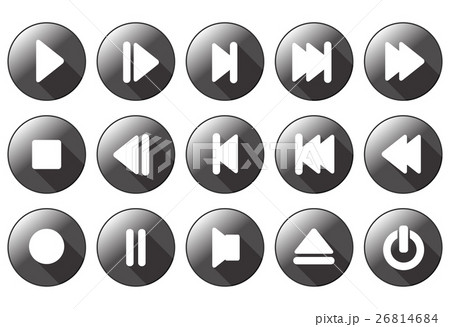 simple multimedia buttons 26814684