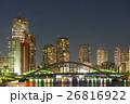 隅田川 夜景 永代橋の写真 26816922