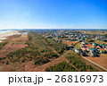 山武市 白幡 本須賀海水浴場付近を空撮 26816973