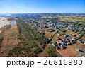 山武市 白幡 本須賀海水浴場付近を空撮 26816980