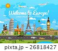 Welcome to Europe poster with famous attractions 26818427