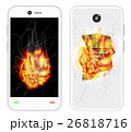 broken smartphone explosion with burning fire 26818716