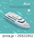 Boat Sailing in Sea. Cruise Liner Passenger Ship 26822802