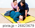 Women in first aid class training  26823679