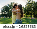 Dance couple training bachata in park 26823683