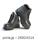 Pair of black boots isolated on white background. 26824314