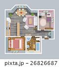 家 図面 設計のイラスト 26826687